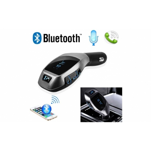 Car Kit Auto Bluetooth cu functie de modulator FM, model X6