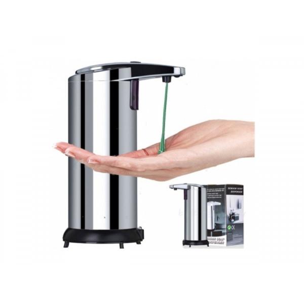 Dozator metalic de sapun cu senzor de miscare