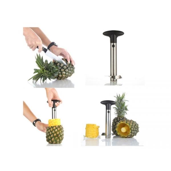 Dispozitiv pentru decojit/feliat ananas