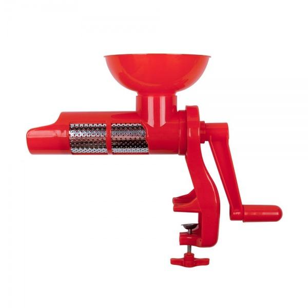 Storcator manual pentru rosii cu sita si cuva colectoare