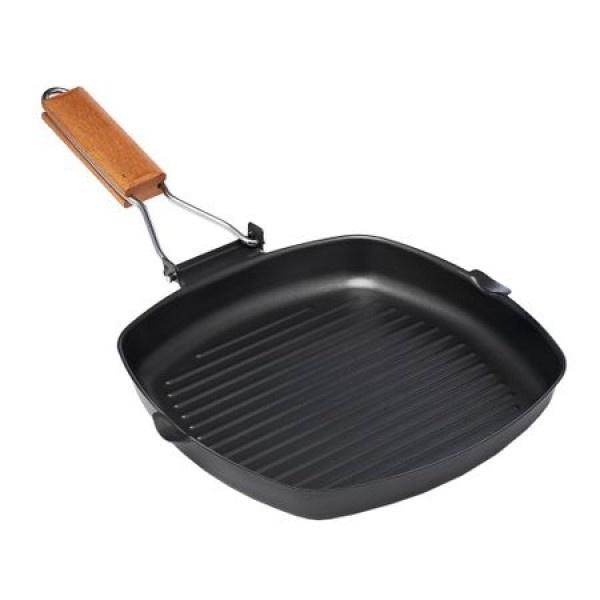 Tigaie grill cu maner detasabil, Vanora Delis, 23 x 2cm