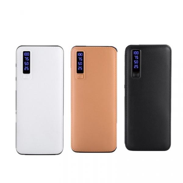 Baterie Externa Smart Power Bank 20000 mAh, 3 x USB Design Piele
