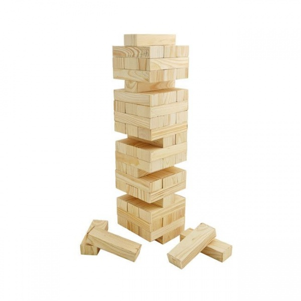 Joc de societate Turnul Instabil 48 piese lemn