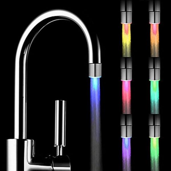 Cap de robinet cu led multicolor