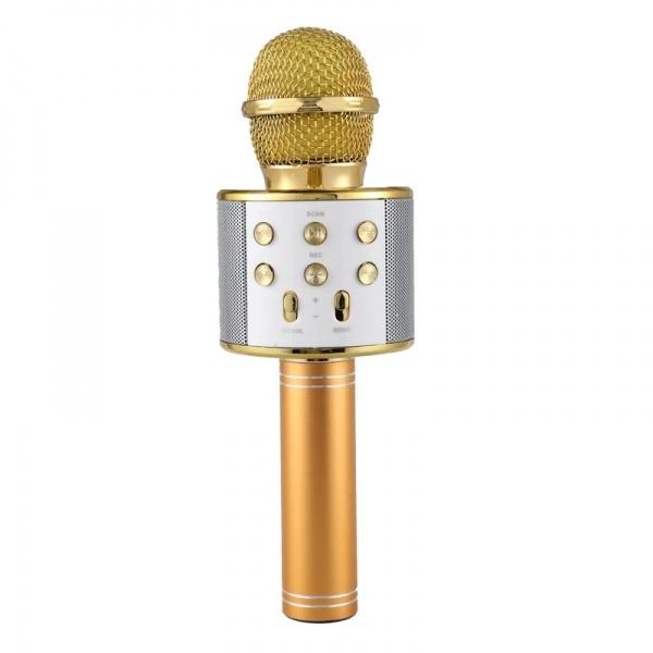 Microfon Karaoke Wireless Bluetooth WS-858 cu difuzor si acumulator incorporat