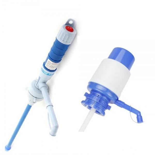 Pompa electrica pentru apa bidon mare + Cadou Pompa manuala pentru apa