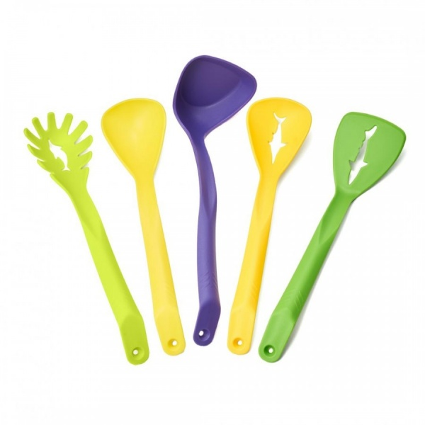 Set 5 ustensile bucatarie, nylon, multicolore