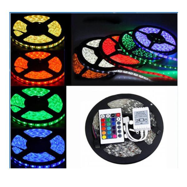 Set 2 Benzi LED RGB cu telecomanda