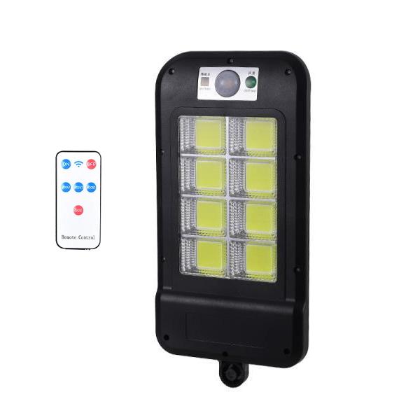 Proiector LED COB 8 cu panou solar, senzor de miscare si telecomanda