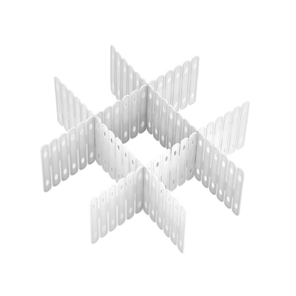 Set 3 x Separator sertar 50x10 cm, Alb