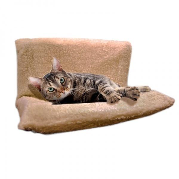 Pat cu suport de calorifer pentru pisici 45 x 31 x 23 cm
