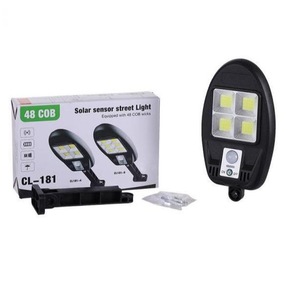 Lampa cu panou solar, 48 LED COB, CL 181-4