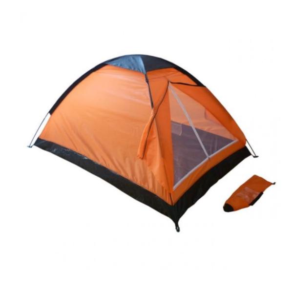 Cort camping 2 persoane, Material rezistent, dimensiuni 200x140x100 cm