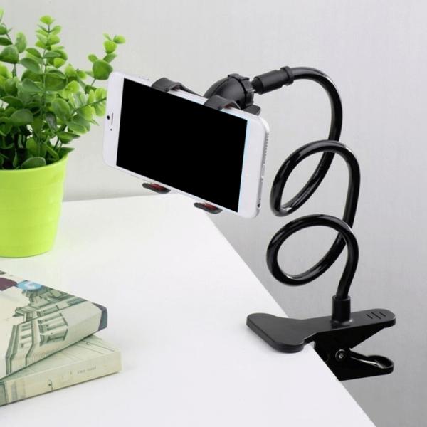Suport flexibil cu rotatie 360 grade, pentru telefon, clips prindere pentru birou