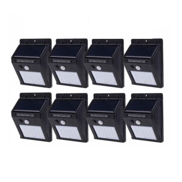 Set 8 Lampi Solare, portabile, cu senzor, 30 LED