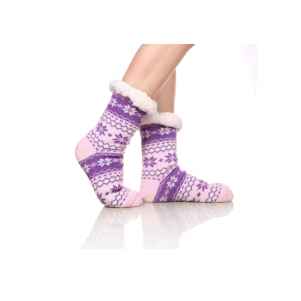 Ciorapi cu interior imblanit pentru femei Model Winter Season