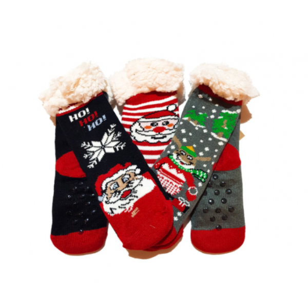 Set 2 perechi ciorapi cu interior imblanit pentru copii Model Winter Season