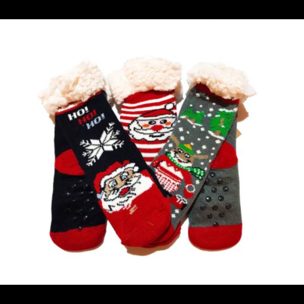 Ciorapi cu interior imblanit pentru copii Model Winter Season