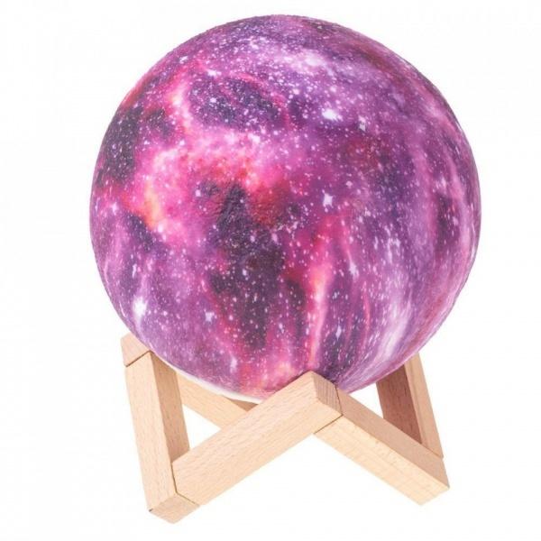 Lampa luna 3D ,led ,Galaxy Moon ,model colorat ,5 culori